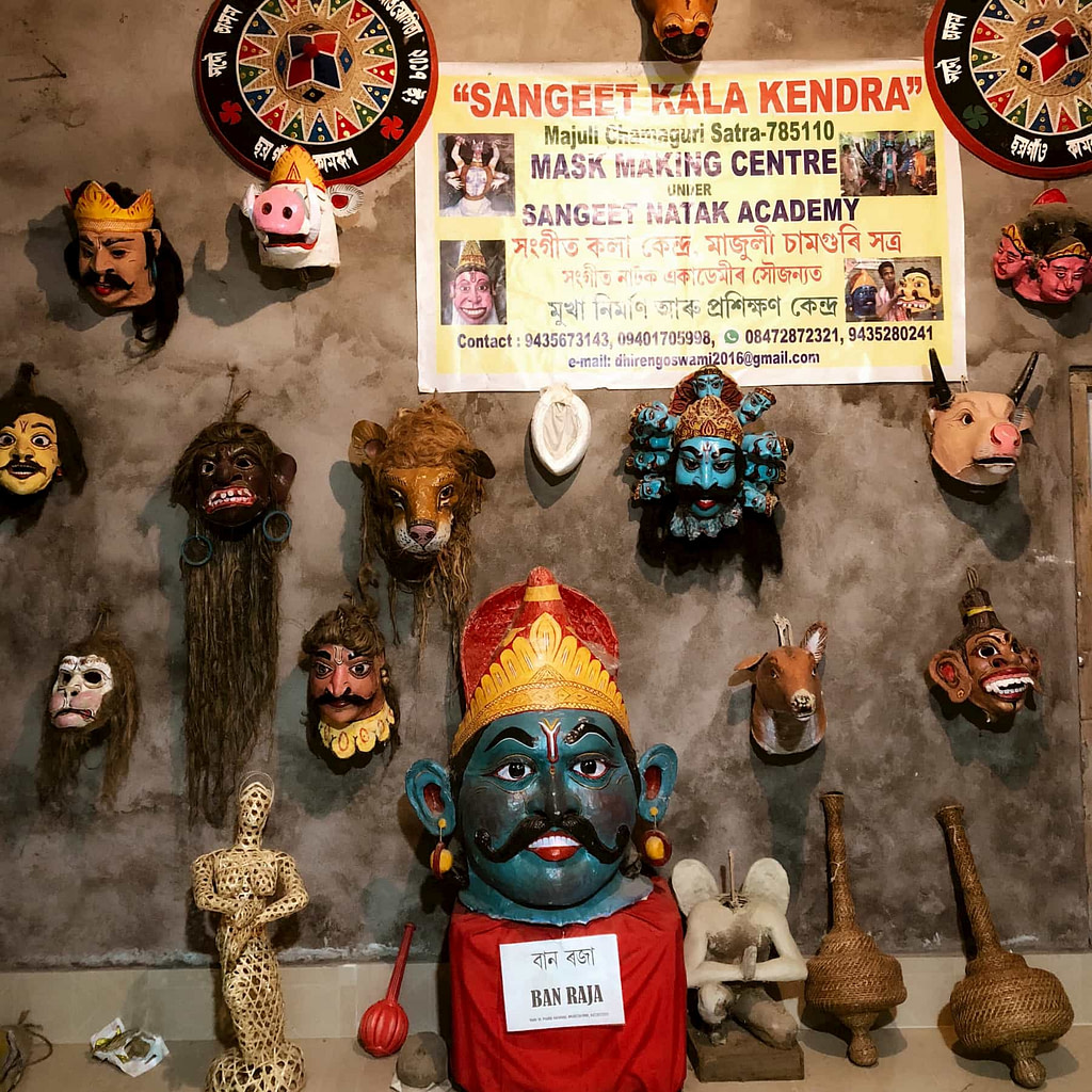the famous mask making satra in Majuli
